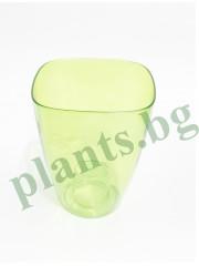 Кашпа  за орхидеи - зелена -Ф9- S158